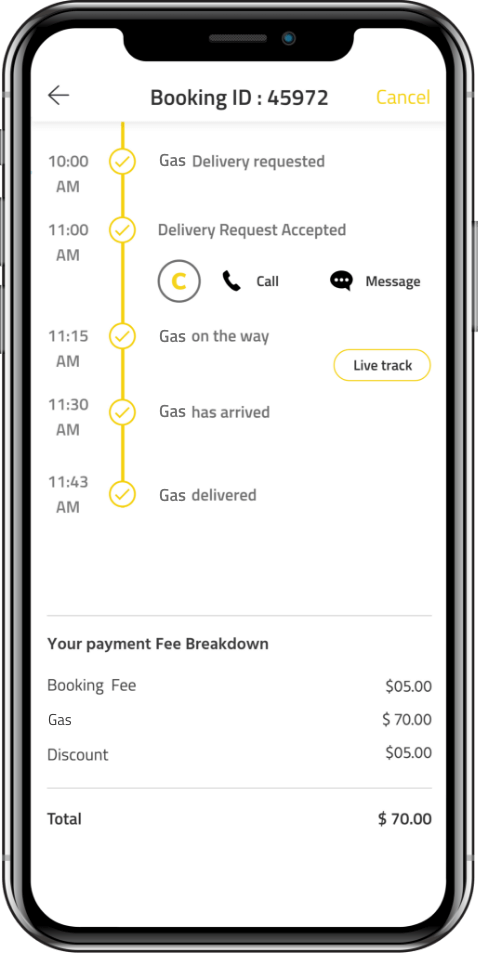 on-demand gas delivery app On Demand Gas Delivery App Solution - Customizable