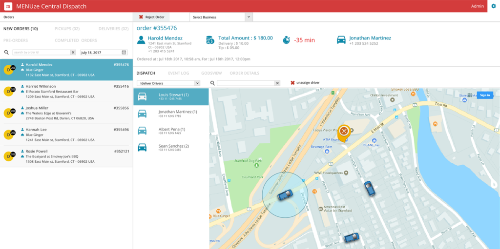 delivery Clone Grubhub Clone to start your own restaurant food ordering app