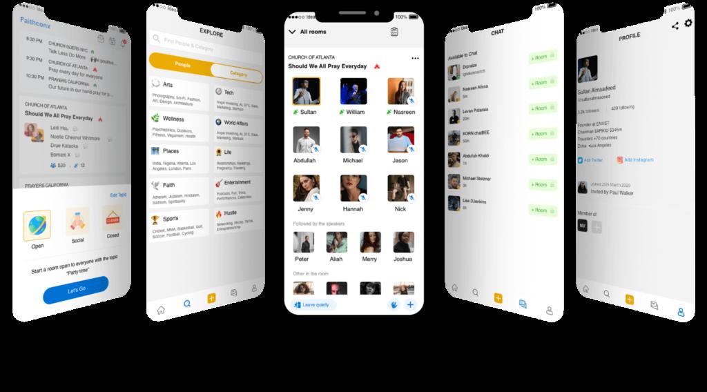 Clubhouse-clone-app-screens