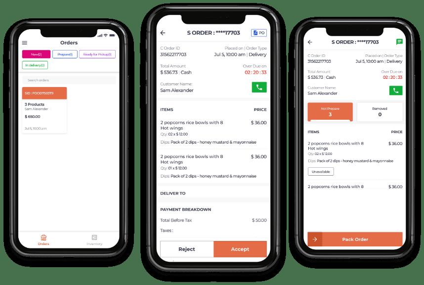 Resturant owner app for food delivery software