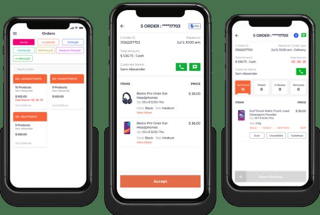 Store picker app for super app