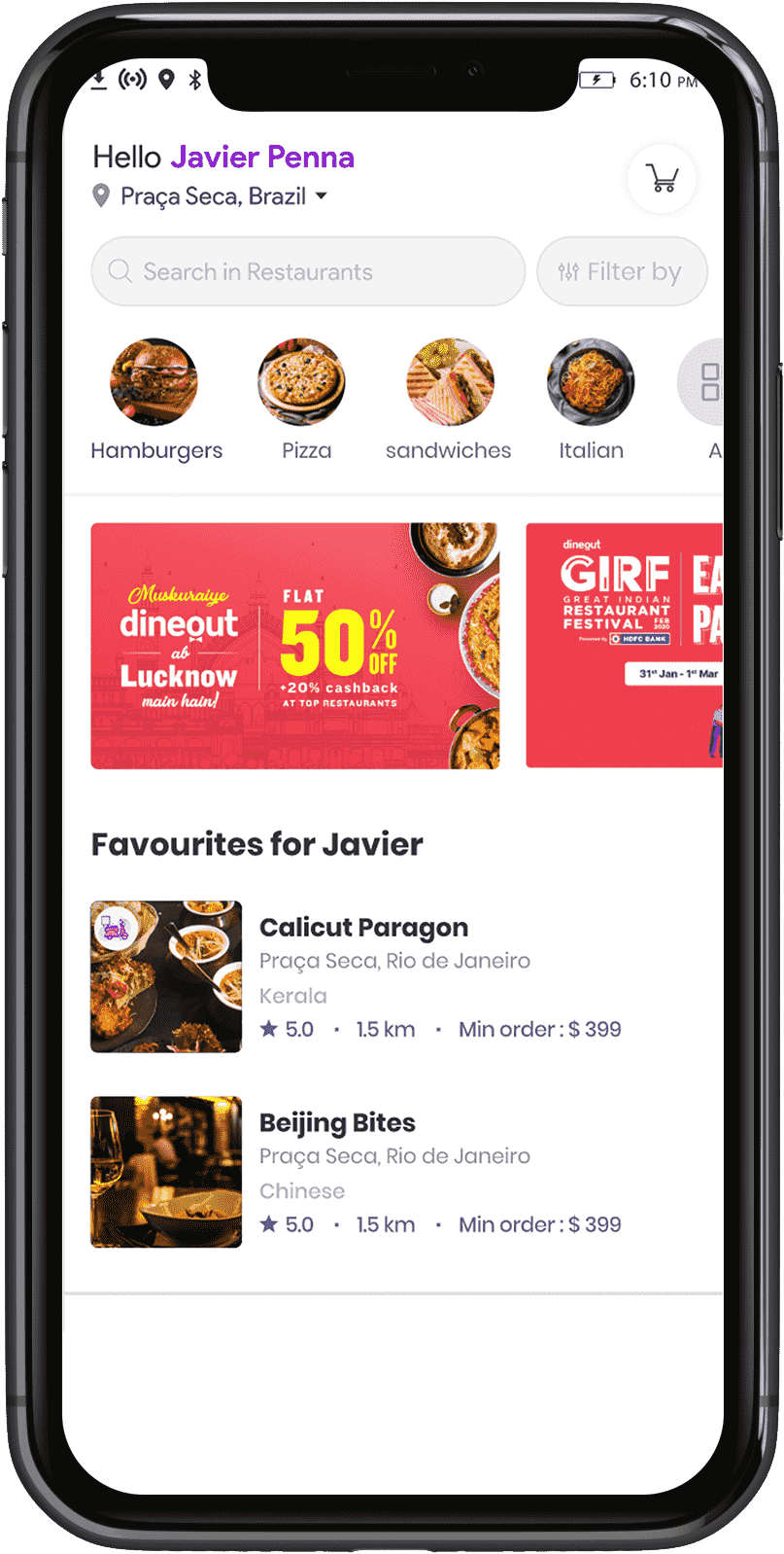 home-page-of-food-delivery-customer-app