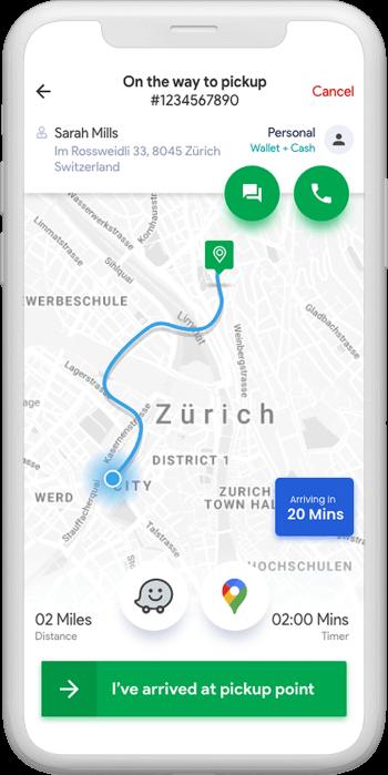 tracking rides on uber clone austarlia
