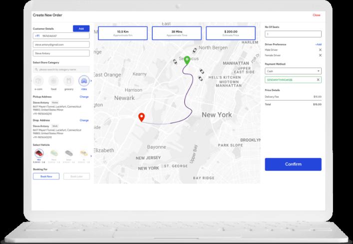 uber clone Nigeria taxi disptach software
