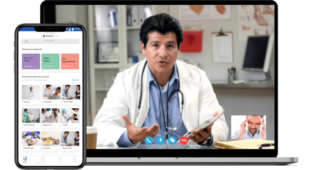 Doctor appointment app development pc and mobile LD