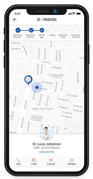 Doc appointment app track doc