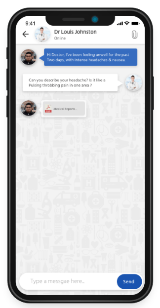 ModDoc appointment app chat with attachmentse5