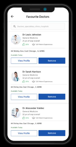 Patient flow doc appointment app fav doc