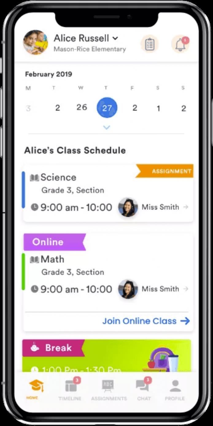 check Teacher routine on classdojo clone