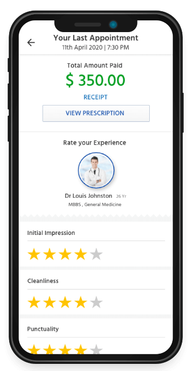 healthcare app development software rating and receipt