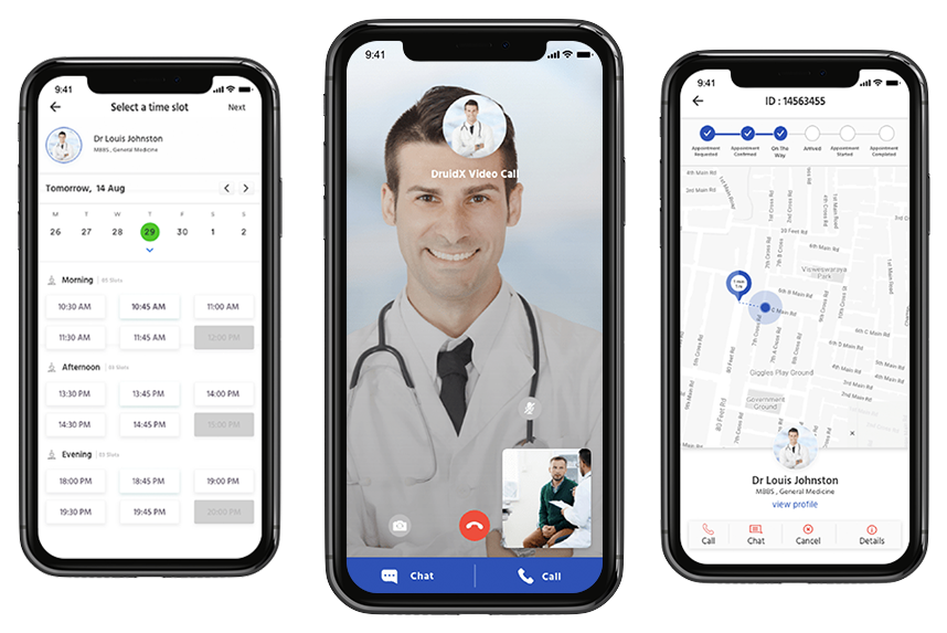 Doctor appointment app development video call