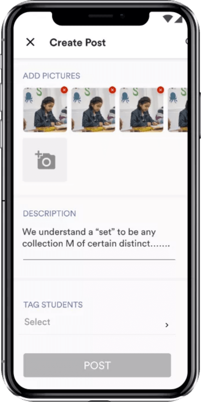 social media like feed on classdojo clone