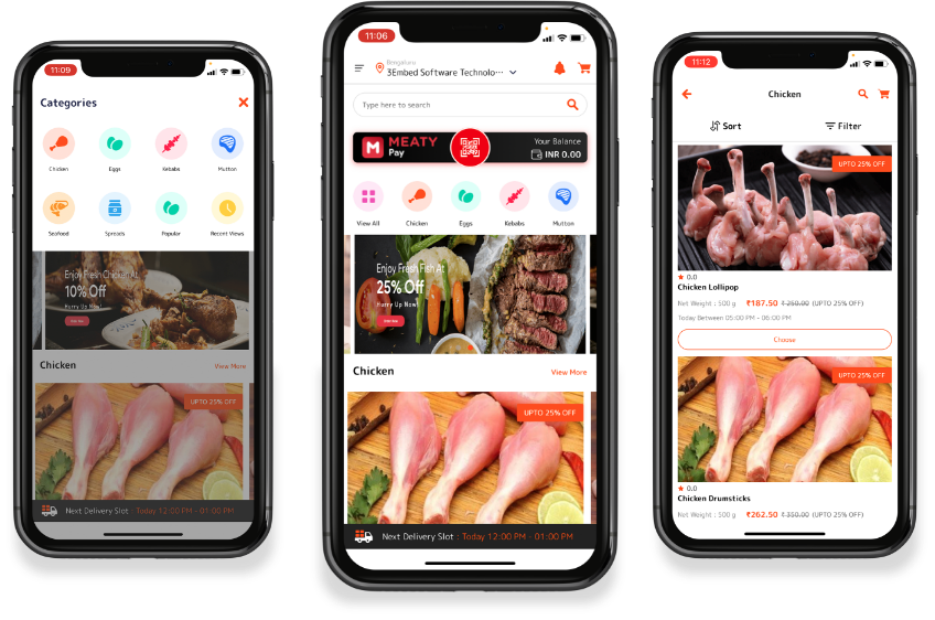 Meat delivery ap developemnt customer app