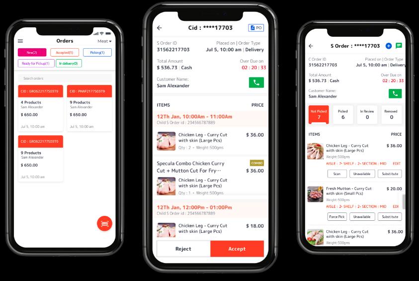 Meat delivery app development Store App