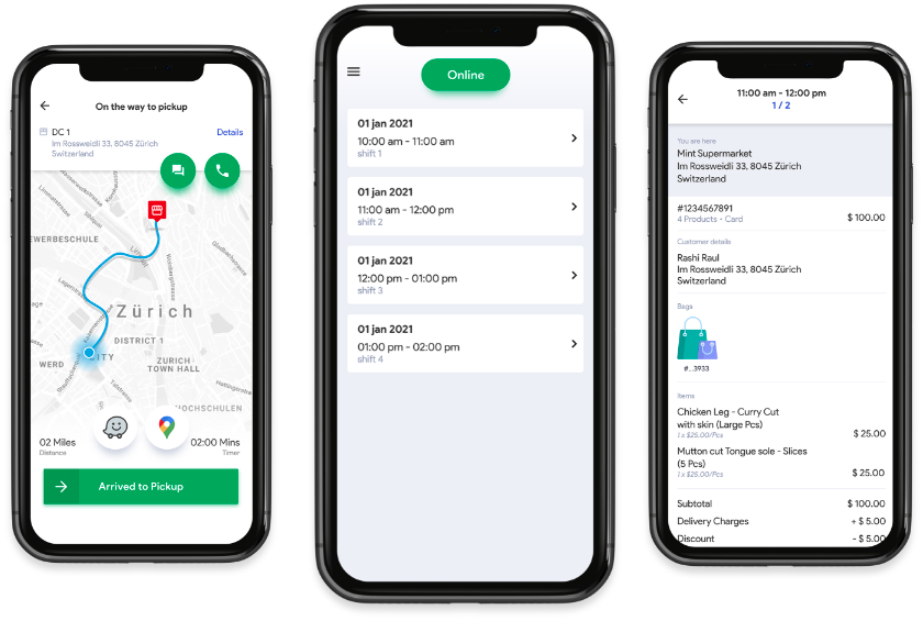 Meat delivery app development driver app