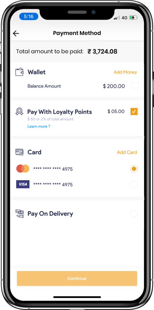 alcohol delivery software payment options
