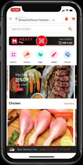 meat delivery app development customer app