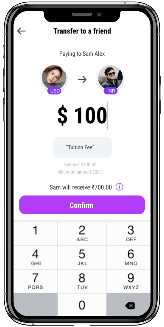 tiktok-clone-send or receive money