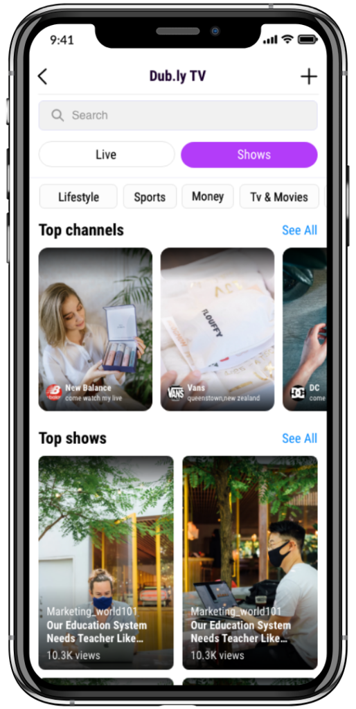 tiktok-clone-view users videos via TV series