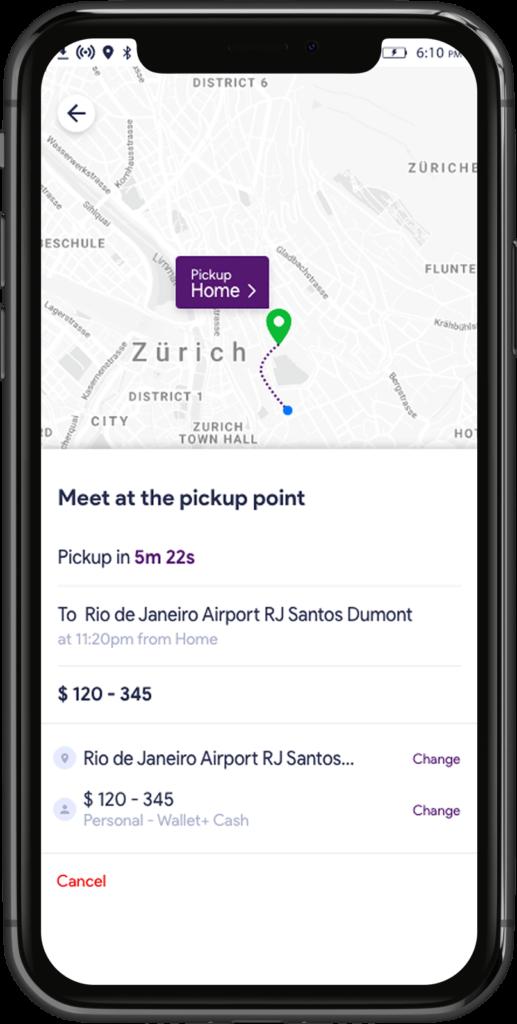 Change preferences on Uber Clone