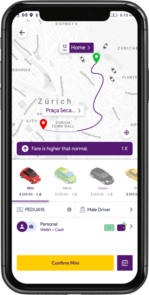 Home screen of Transport Booking Software