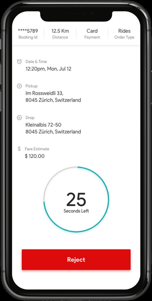 Live driver requests Uber Clone Script