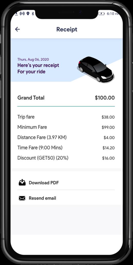 Transport Booking Software Reciept