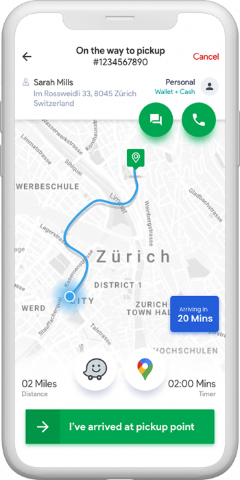 Tracking drivers on the taxi software